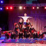 Starke Gruppe: Stunt-Akrobaten bei der Show. Foto: Philipp Maier