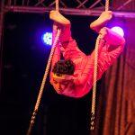 Trapezartist im Gala-Zelt. Foto: Tom Sgodda